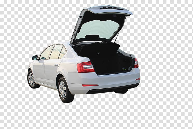 Car u0160koda Auto Trunk u0160koda Octavia Vehicle, White car trunk.