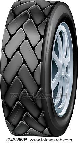 Tyre illustration Clipart.