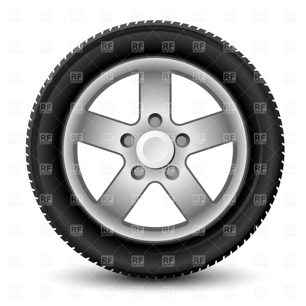Car tyre clipart.