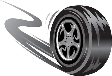 Truck Tire Clip Art, Vector Truck Tire.
