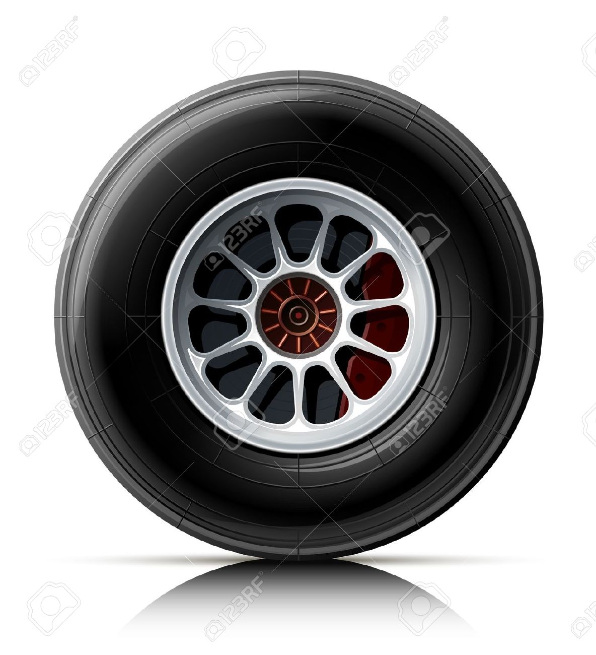 Race car tire clipart.
