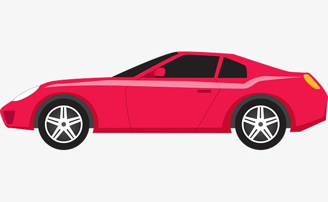 Red Vector Cartoon Sports Car, Cartoon Vector, Car Vector, Cartoon.