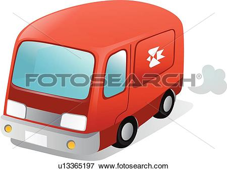 Clip Art of postal vehicle, icons, cars, Car, post office delivery.