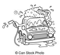 Clipart Vector of car wash cartoon csp15489650.