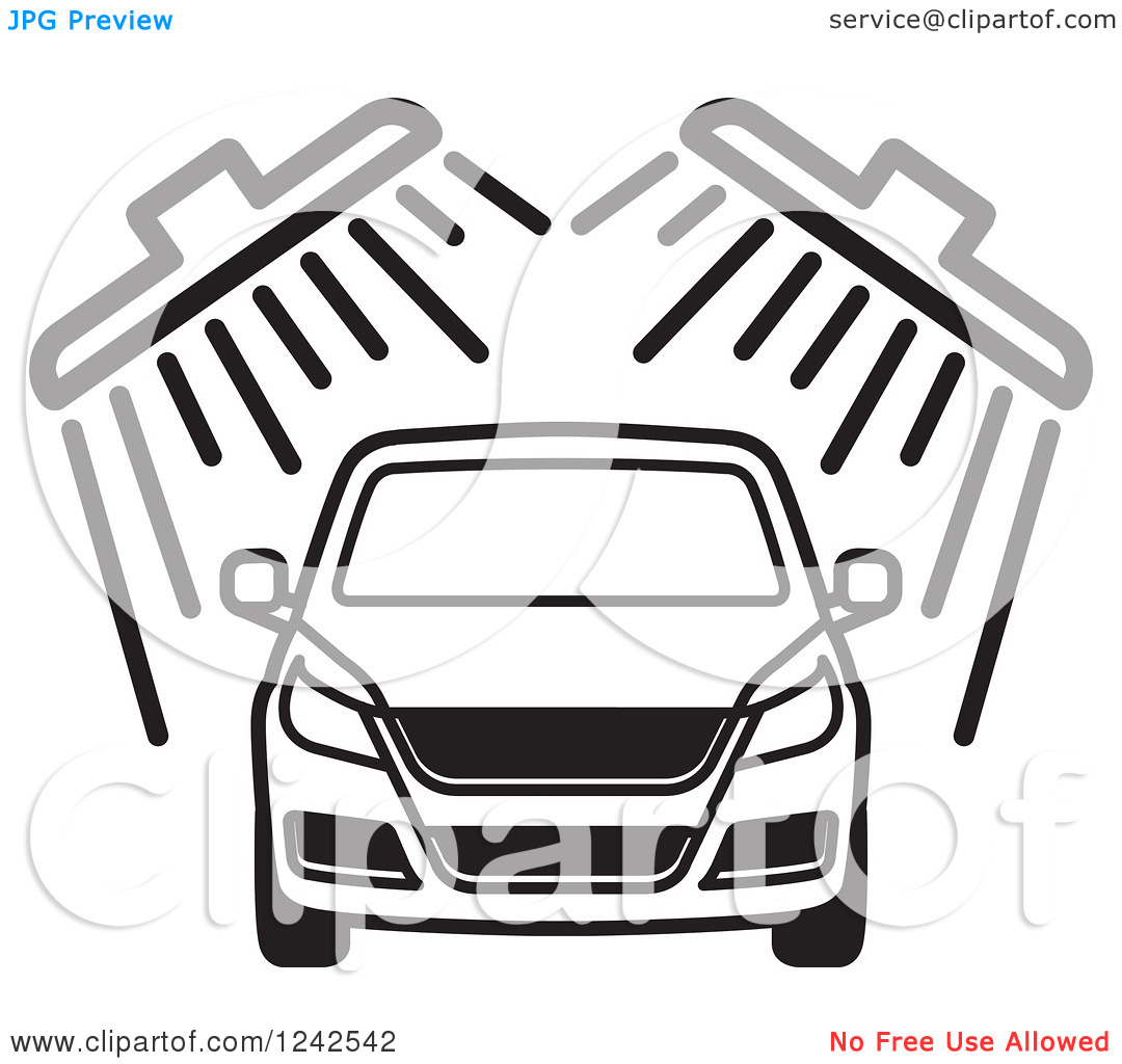 Free Car Wash Clipart Black And White.