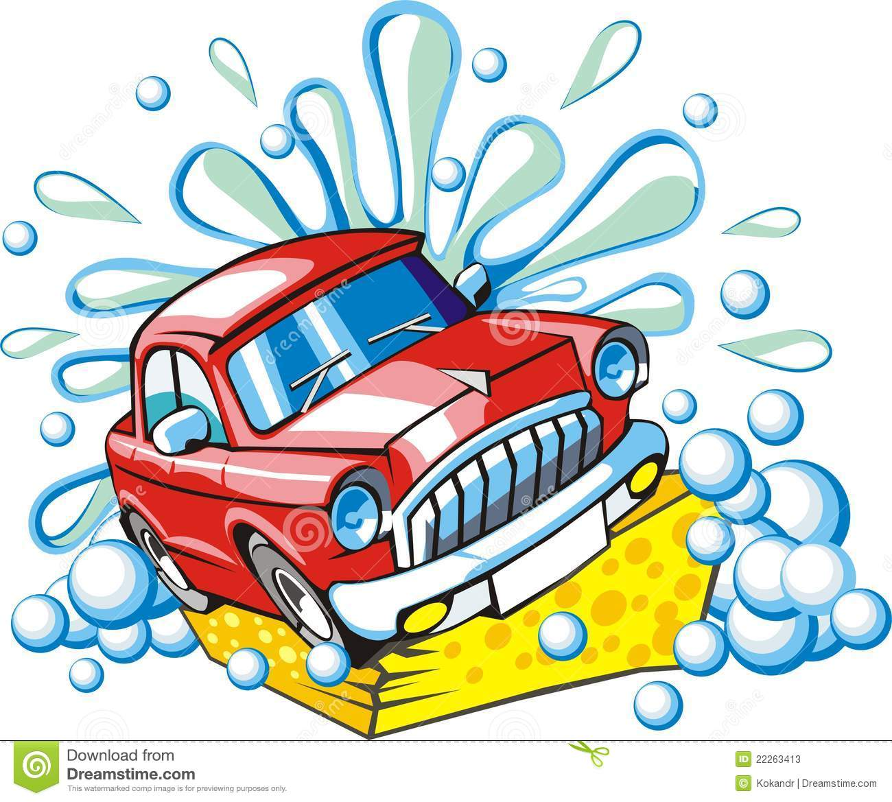Water car wash clipart.