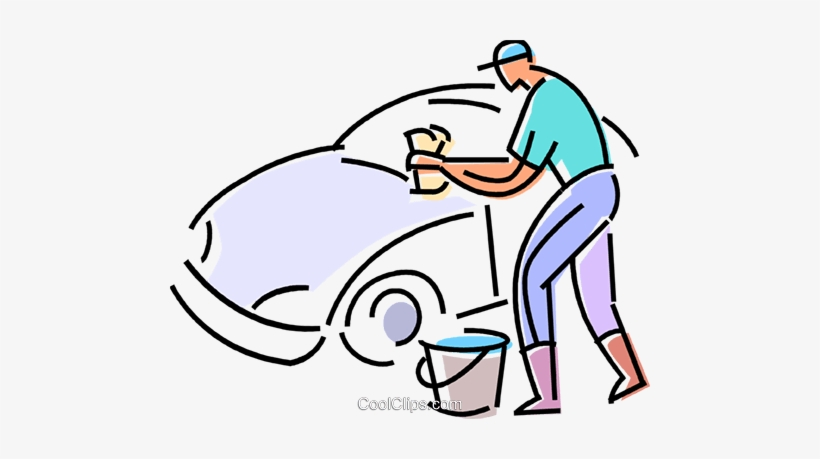 Car Wash Royalty Free Vector Clip Art Illustration.