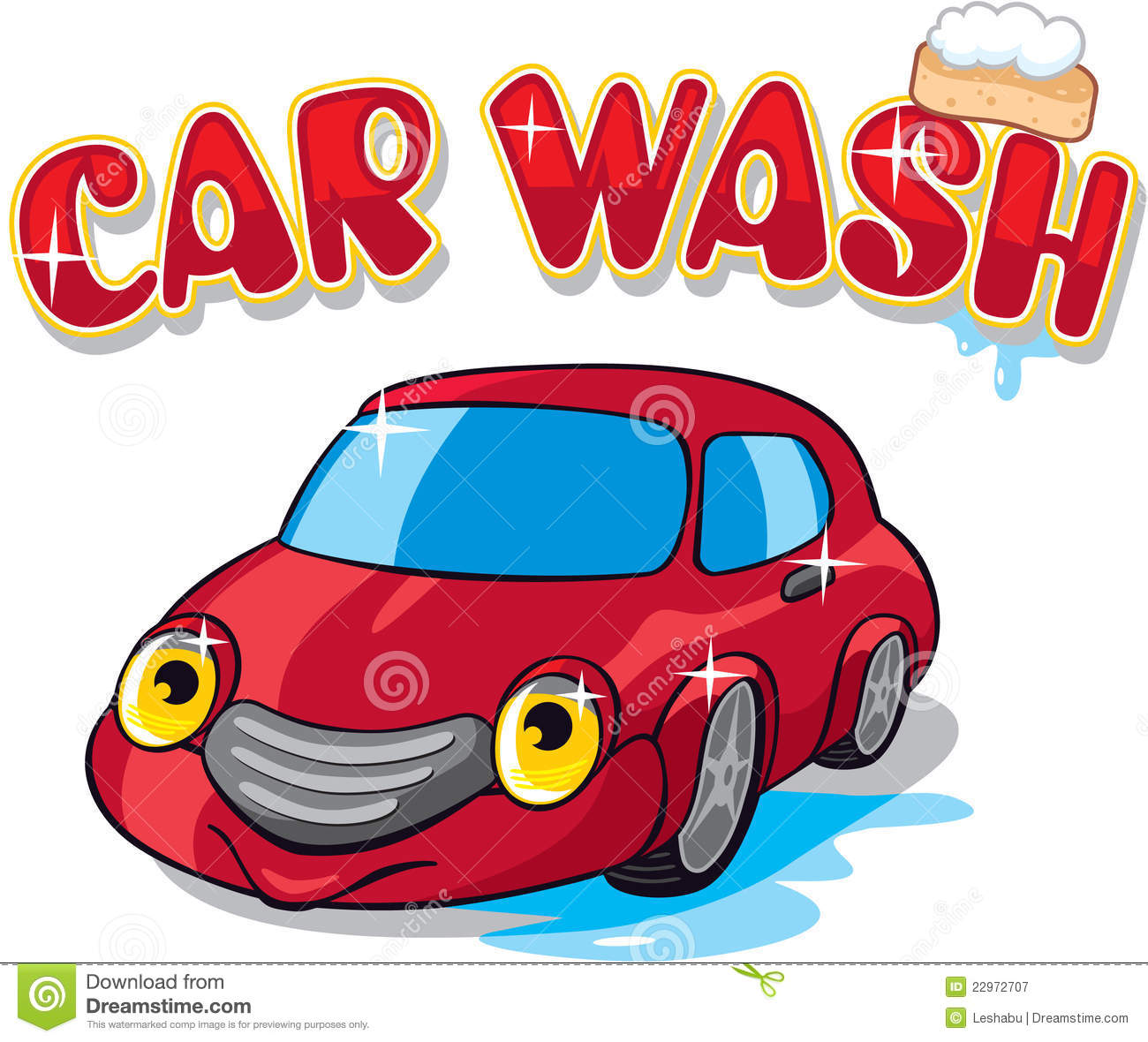 Cartoon Car Wash Stock Illustrations.