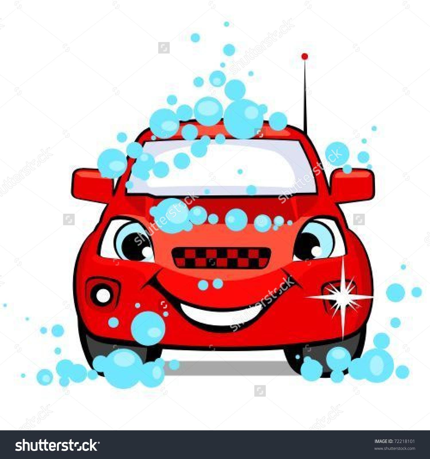 Car On Car Wash Stock Vector 72218101.