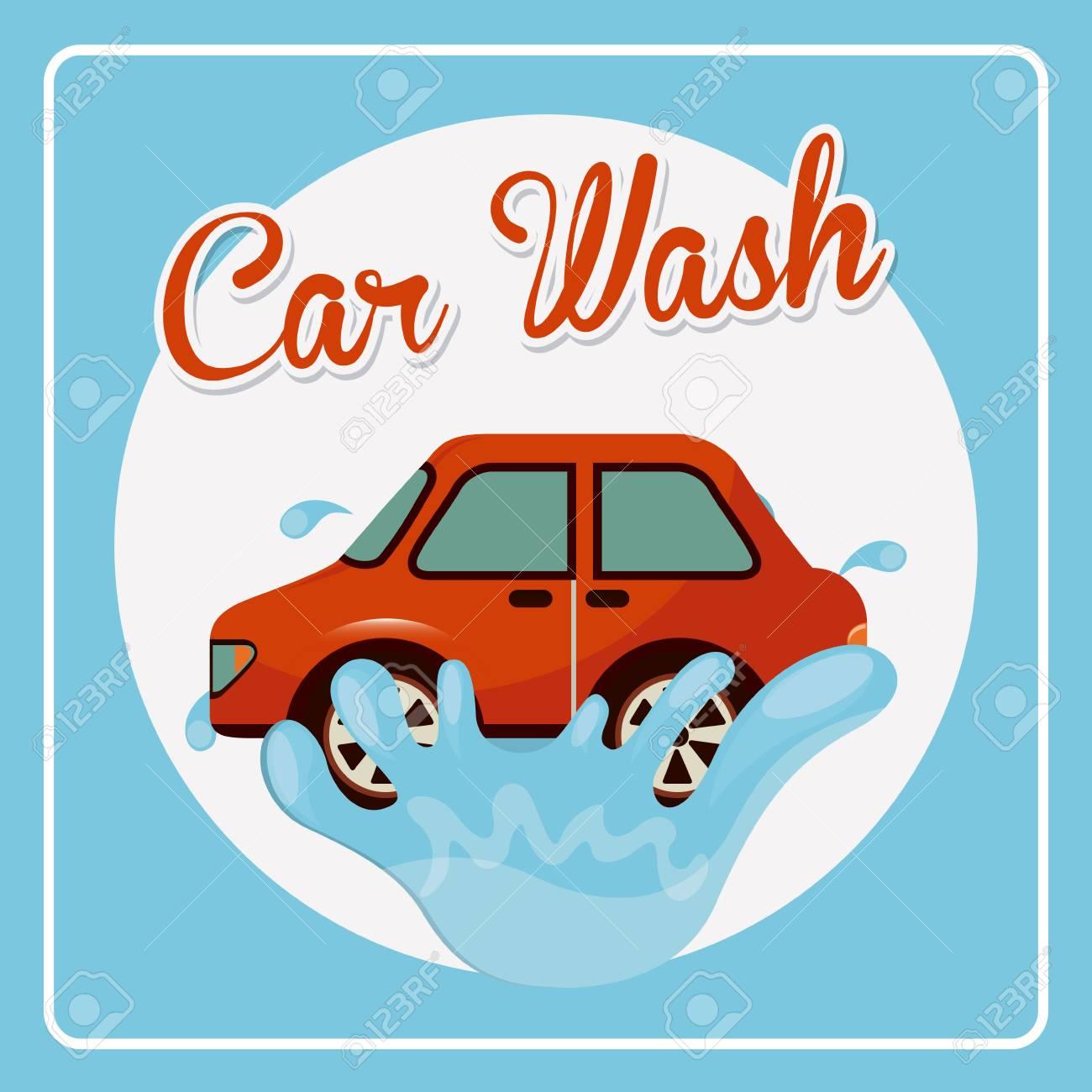 car wash design, vector illustration eps10 graphic.