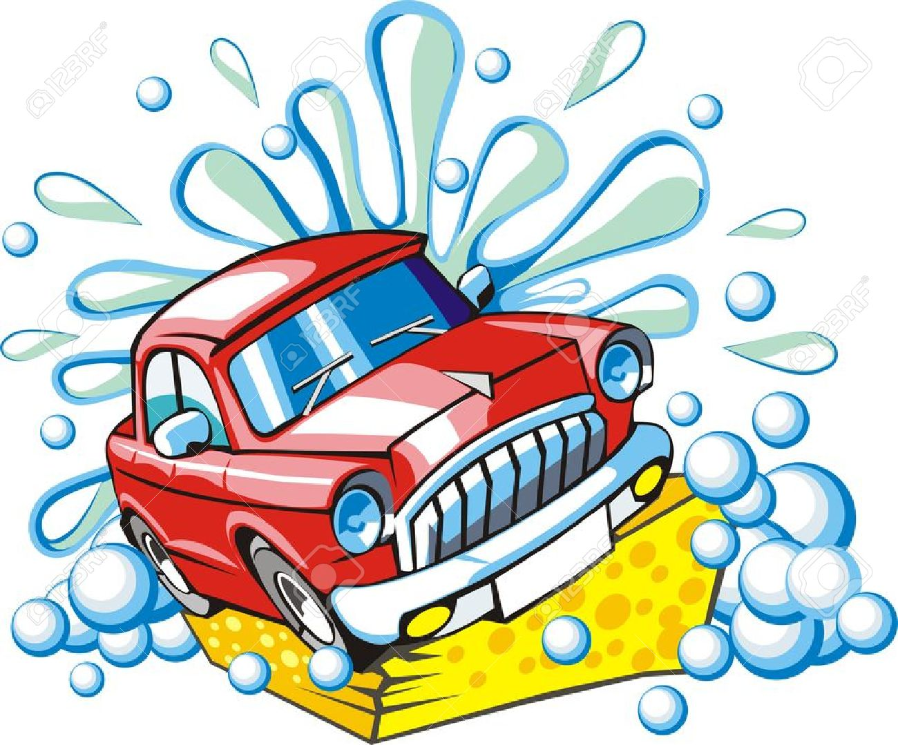 820 Car Wash free clipart.