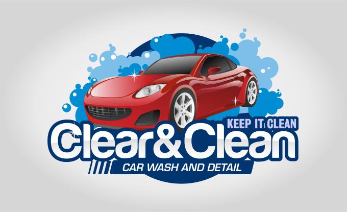 create premium car wash logo.