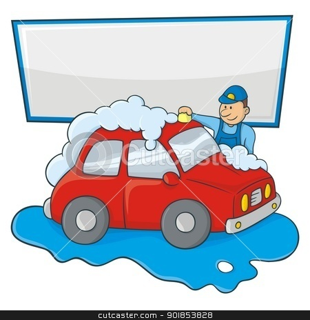 Mobile car wash clipart.