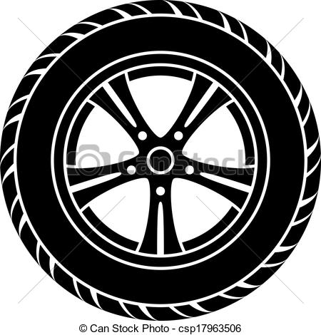 Clipart of car wheels.