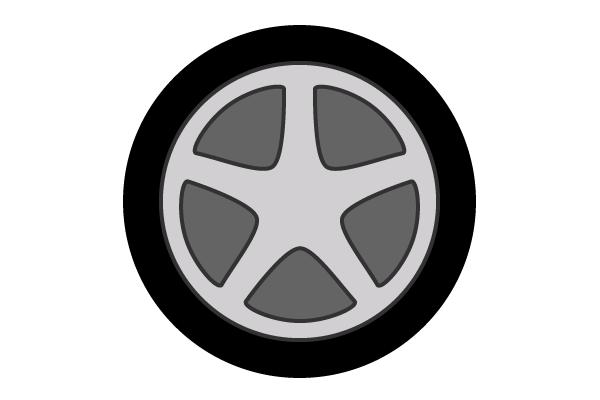 Car wheels clipart.