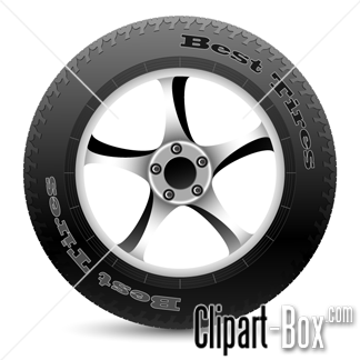 CLIPART CAR WHEEL.
