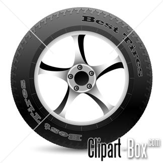 CLIPART CAR WHEEL.