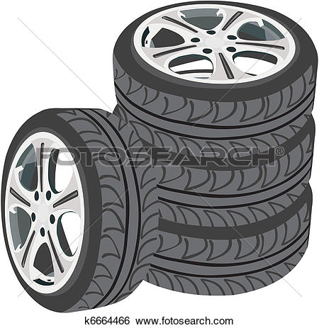 Clip Art of Car wheels k6664466.