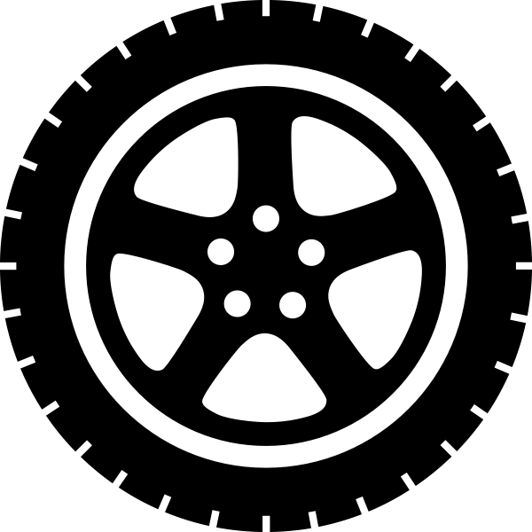 Car Wheel PNG Transparent Image.