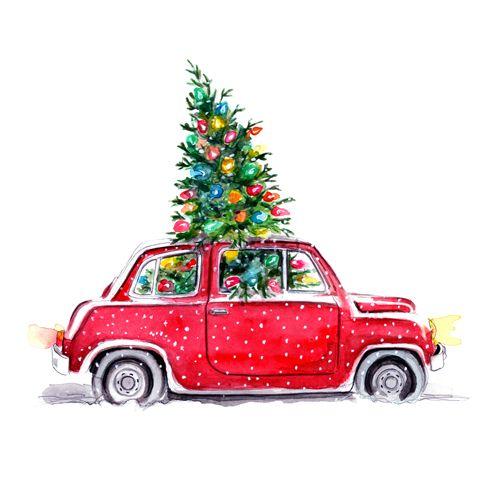 Christmas Illustration by Tracy Hetzel.
