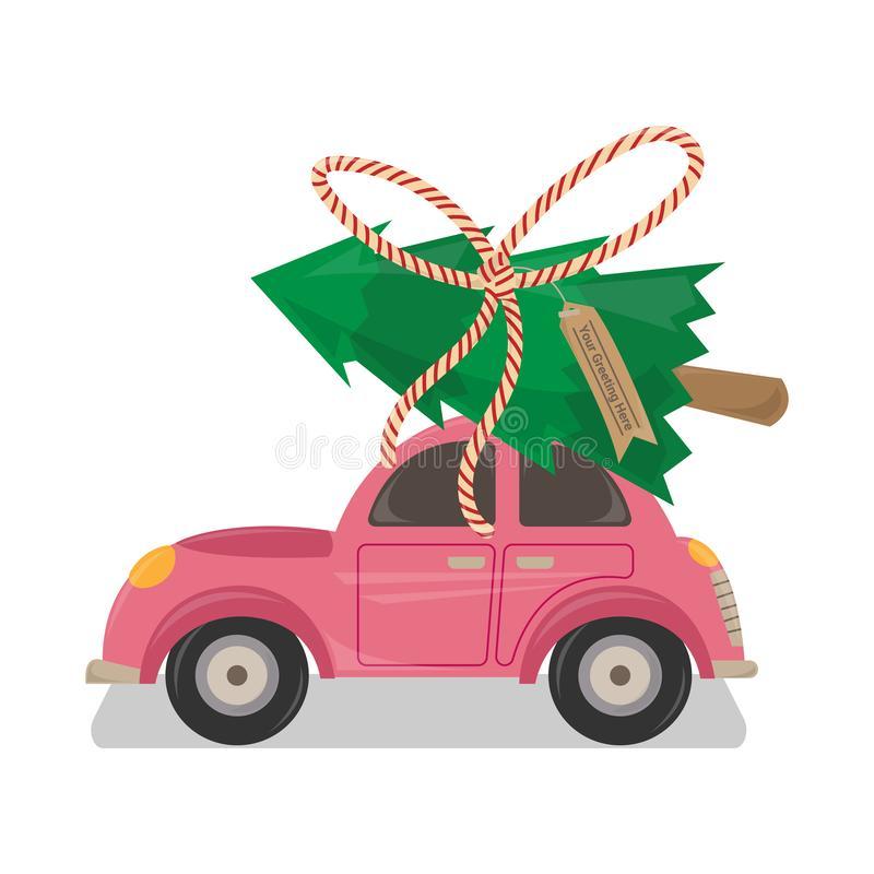 Car Christmas Tree Top Stock Illustrations.