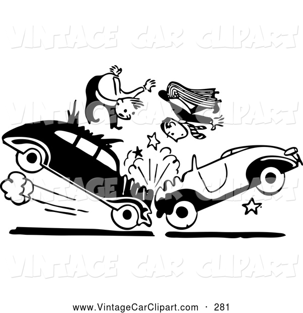 Car Crash Clipart Black And White.