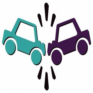 Car accident clip art.
