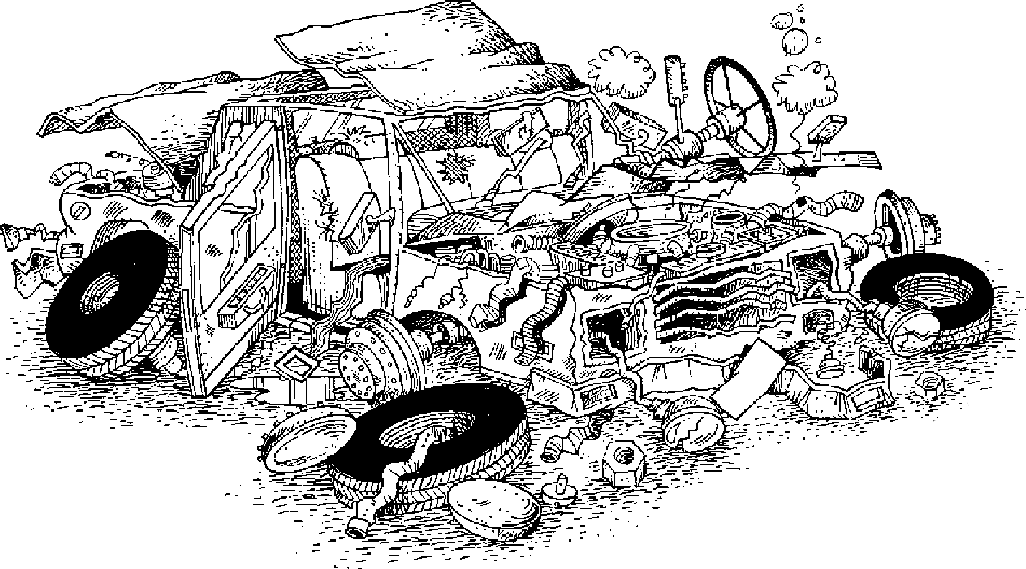 Wrecked Truck Clipart.