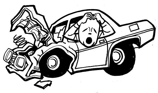 Clipart car wreck.