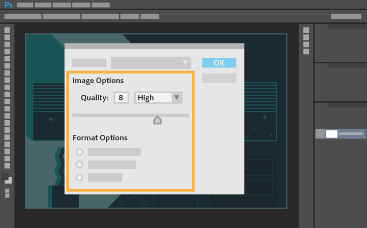 How to save or convert an image to JPEG.