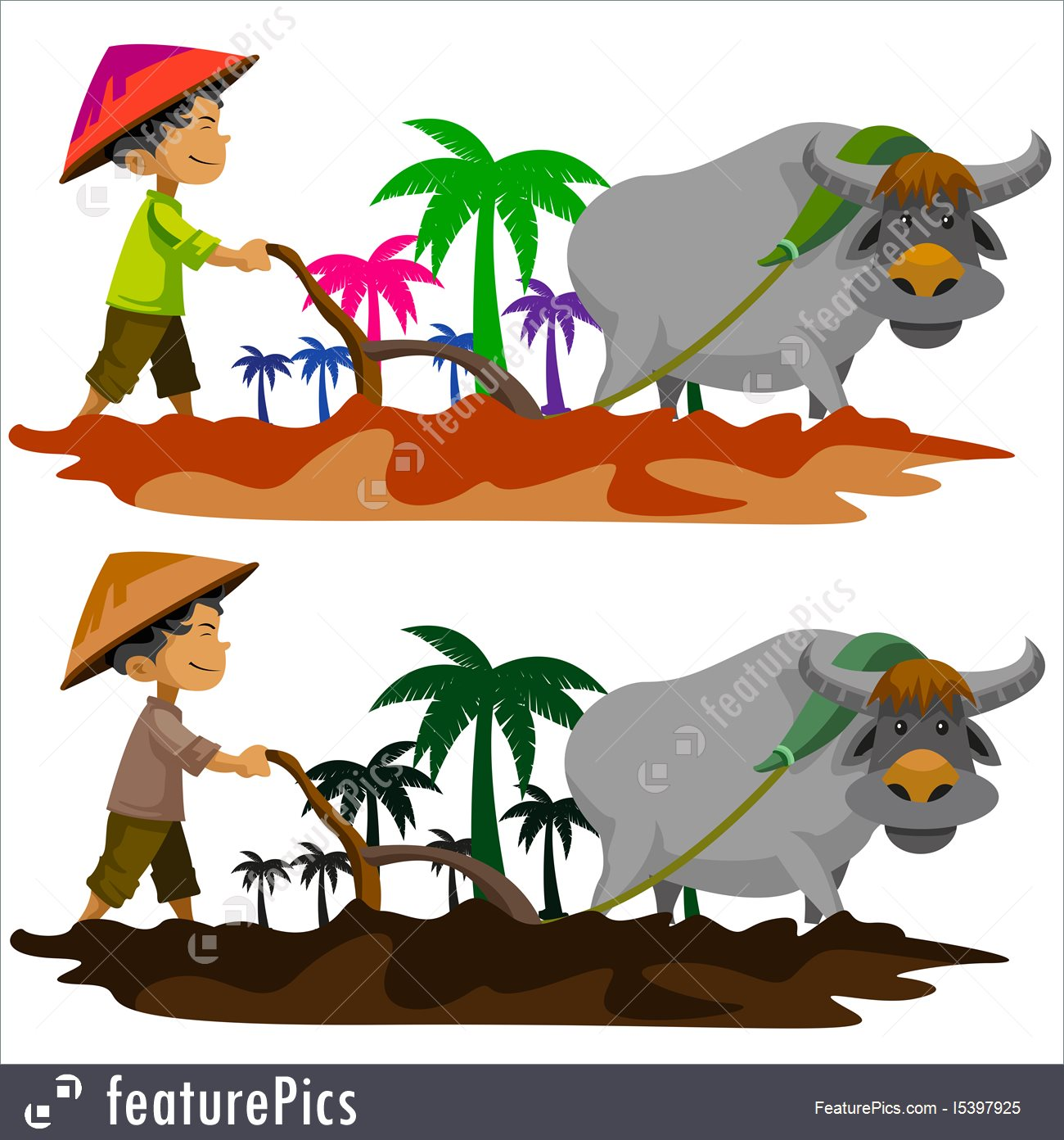 Filipino Farmer Clipart.