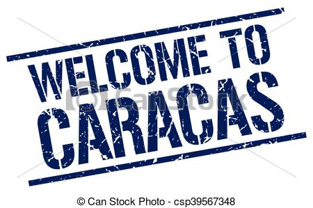 EPS Vector of welcome to Caracas stamp csp39567348.