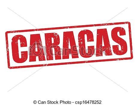 Clipart Vector of Caracas stamp.