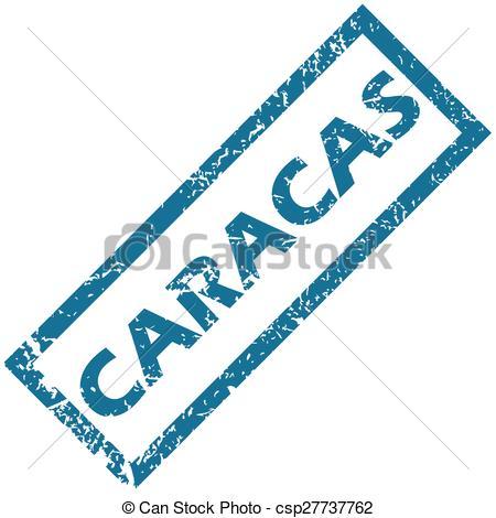 Clip Art Vector of Caracas rubber stamp.