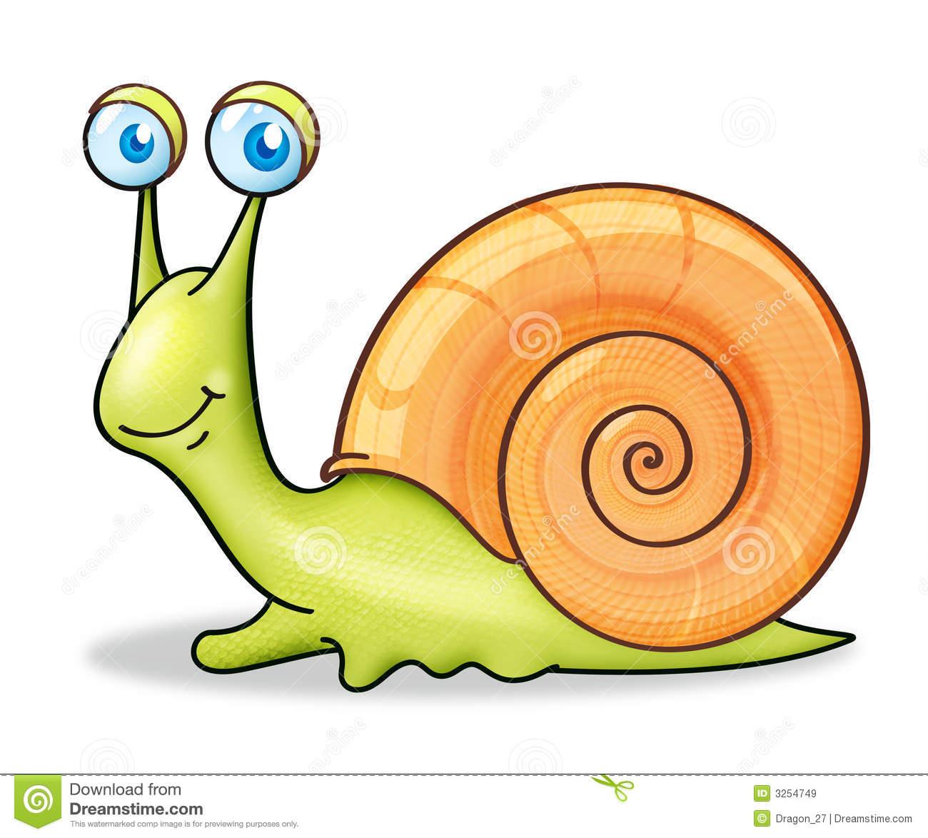 Clip Art Cartoon Snail Clipart.