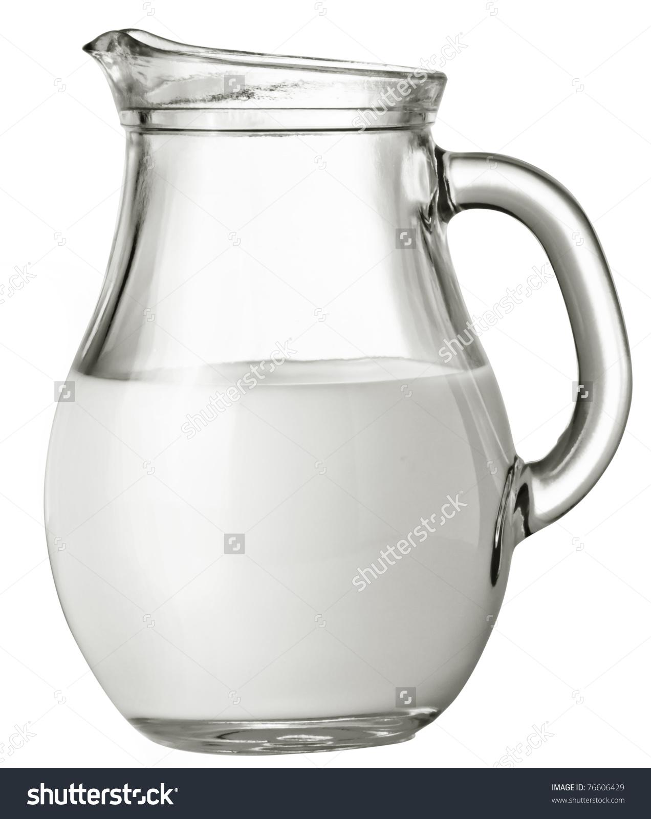 Milk Carafe Stock Photo 76606429.