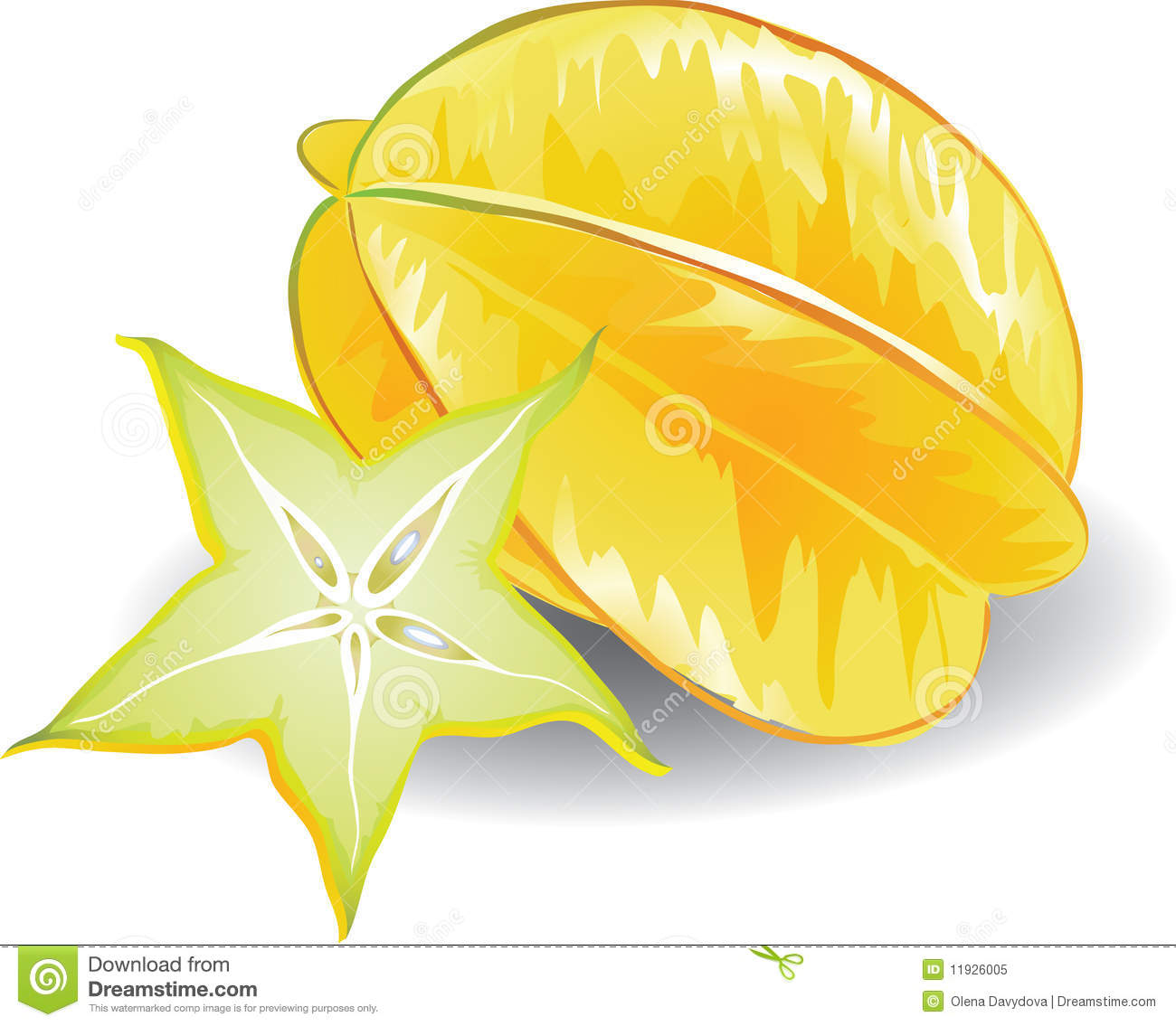 Carambola Stock Illustrations.