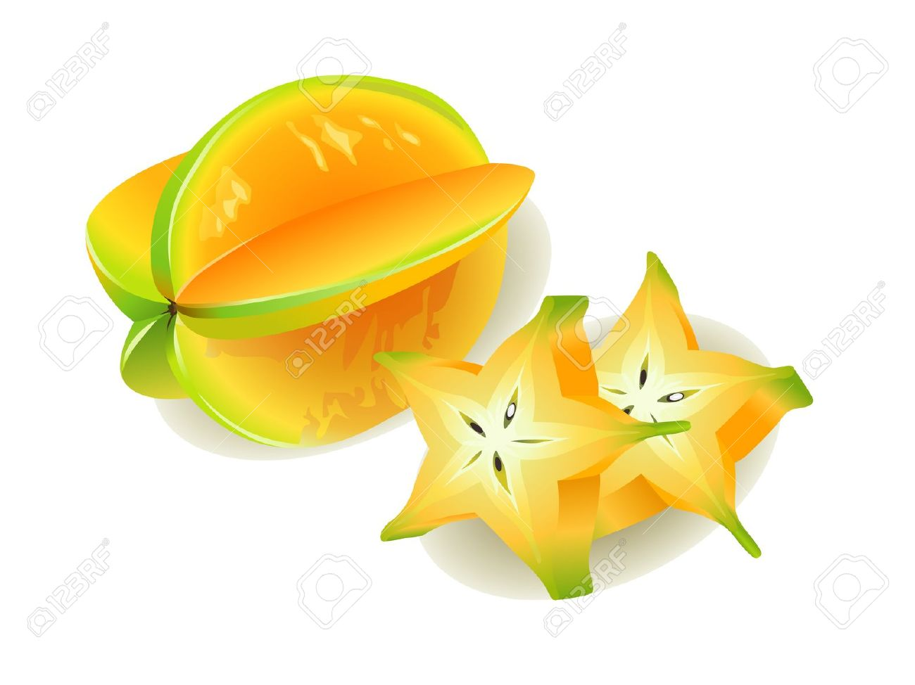 Star fruit clipart free.