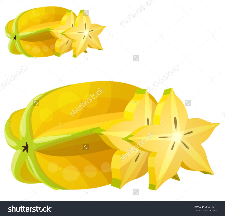 Star Fruit Carambola Cartoon Vector Icon Stock Vector 386274844.
