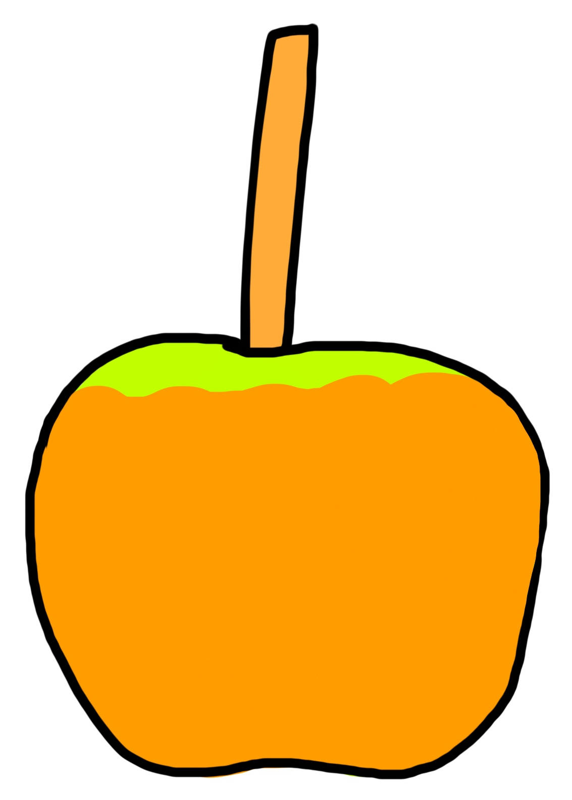 Caramel Apple Clip Art.