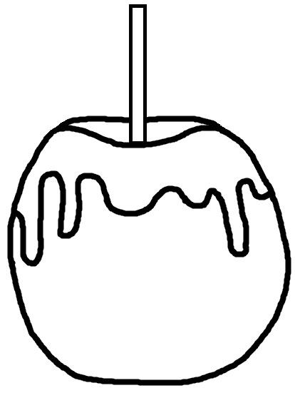 Cute caramel apple clipart.
