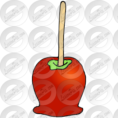 Caramel Apple Picture for Classroom / Therapy Use.