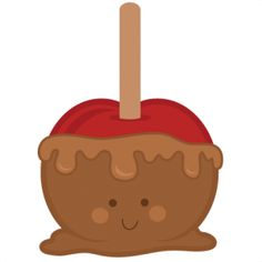 Caramel Apple Free Clipart.