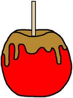 Free Caramel Apples Clipart.