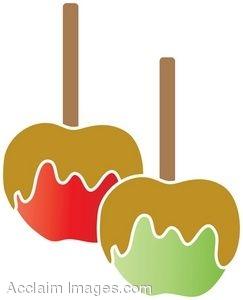 Clip Art Caramel Apples.