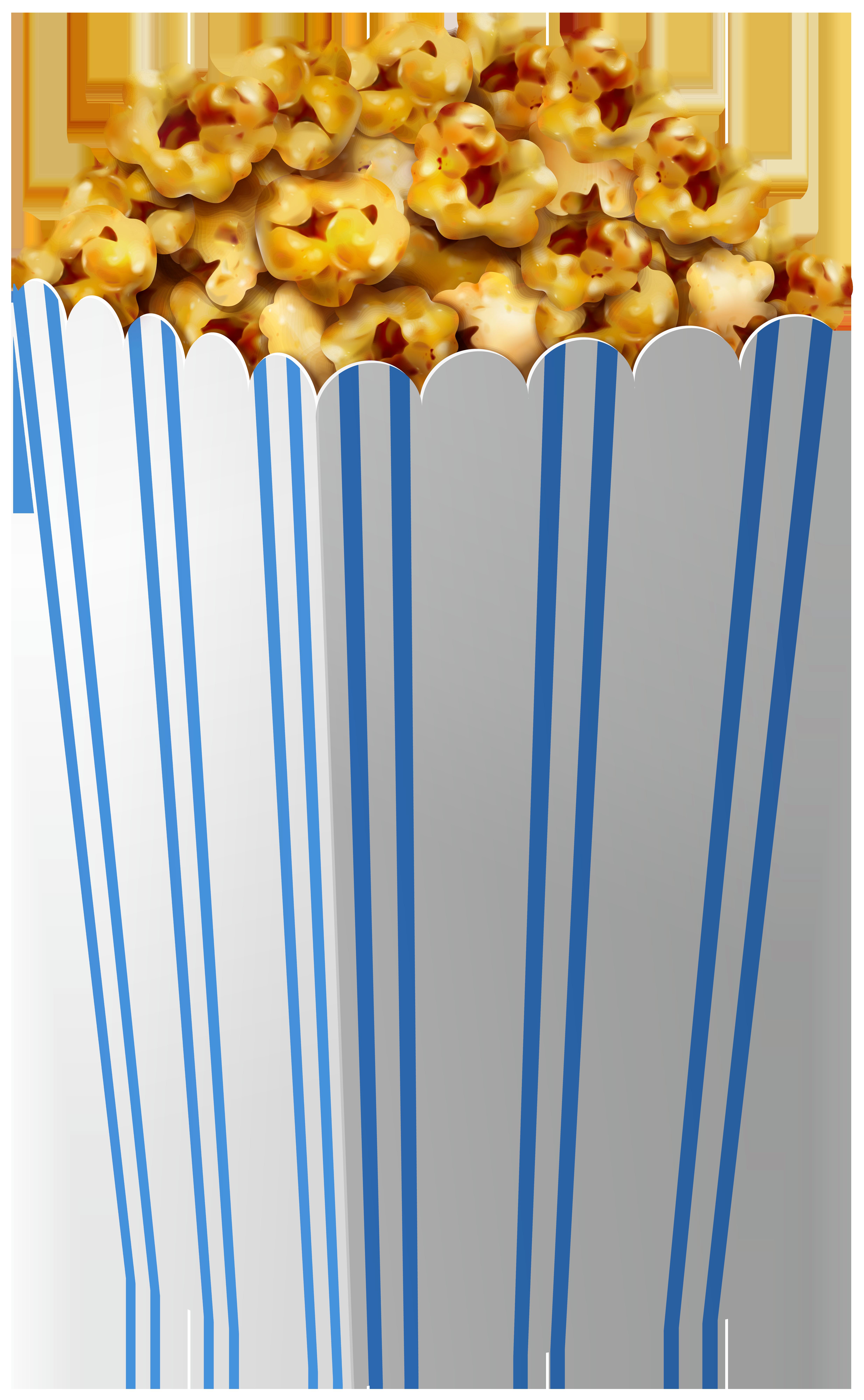 Caramel Popcorn Box PNG Clipart Image.