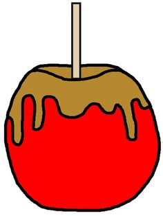 Caramelized apple clipart.