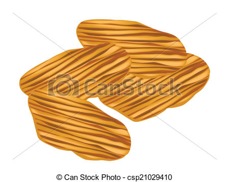 Vector Clip Art of Thai Caramelized Crisps on A White Background.