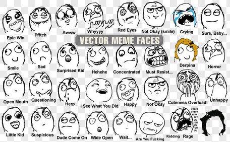 33 Vector meme faces Clipart Picture Free Download.