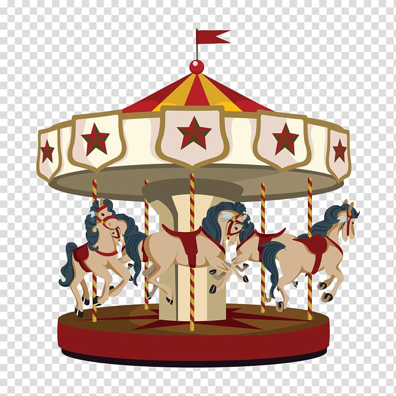 Carousel transparent background PNG clipart.
